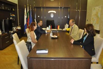 Посланикът на Германия  Н. Пр. Кристоф Айххорн с интересни идеи за сътрудничество с Бургас