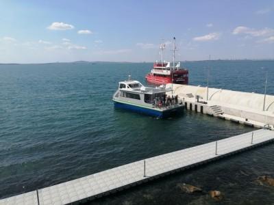 Новият кей на остров Света Анастасия вече е завършен